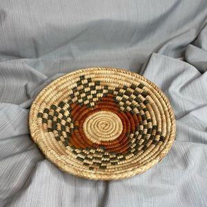 """Basket bowl boho decor 8"""" diameter"""